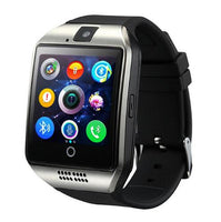 Bluetooth Smart Watch men Q18 With Camera Facebook Whatsapp Twitter Sync SMS Smartwatch Support SIM TF Card For IOS Android