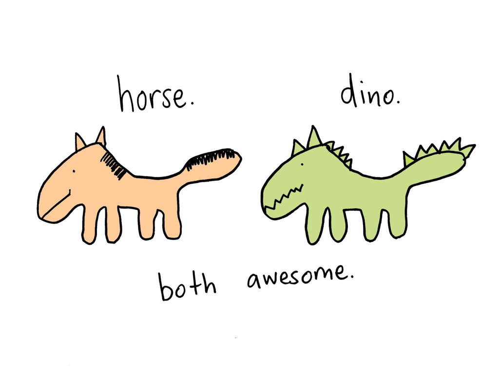 Horse. Dino. Both Awesome