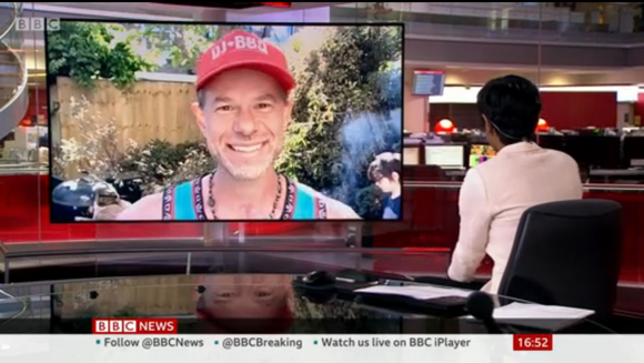 DJ BBQ LIVE on BBC 6 O'Clock News