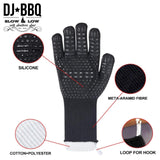 DJ BBQ Gloves, Extreme Heat Resistant Up to 800 ℃/1472 ℉ Silicone Gloves for Cooking BBQ, and Grill