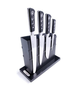 I.O. Shen Magnetic Knife Block with 4 Mastergrade Knives