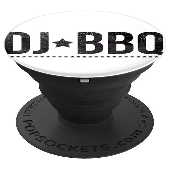 DJ BBQ Solo Barbecue Food and Entertainment PopSockets Grip and Stand for Phones and Tablets