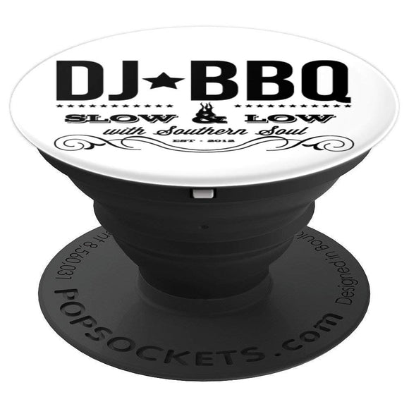 DJ BBQ Barbecue Food and Entertainment PopSockets Grip and Stand for Phones and Tablets