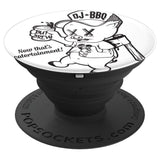DJ BBQ Beer & Axe hunter Gather Now thats Catertainment! PopSockets Grip and Stand for Phones and Tablets