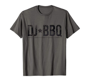 DJ BBQ Solo Barbecue and Entertainment black on white T-Shirt