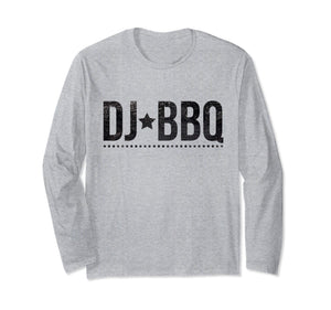 DJ BBQ Solo Barbecue and Entertainment black on white Long Sleeve T-Shirt