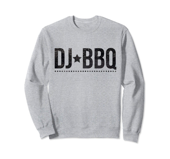 DJ BBQ Solo Barbecue and Entertainment black on white Sweatshirt