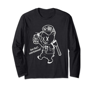 DJ BBQ Beer & Axe hunter Gather Now thats Catertainment! Long Sleeve T-Shirt