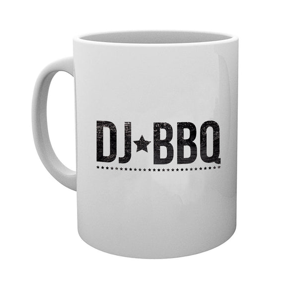 DJ BBQ Stars Logo Tea and Coffee White Mug