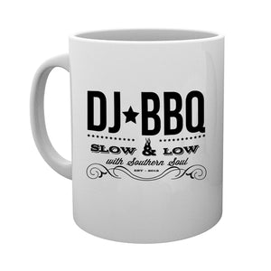 DJ BBQ Tea and Coffee White Mug Low and Slow design