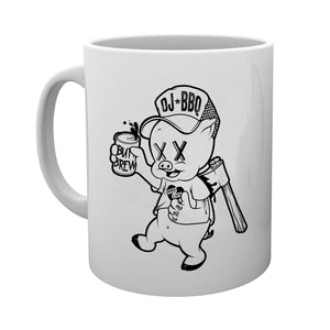 DJ BBQ Porky Pig Tea and Coffee White Mug