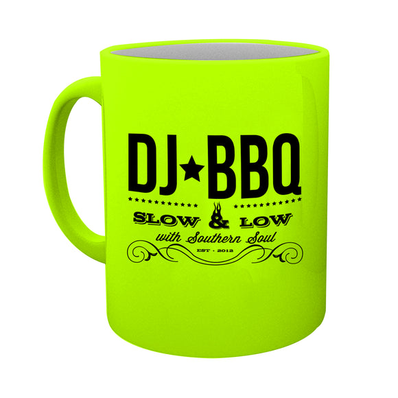 DJ BBQ Mug Low and Slow Neon Yellow