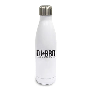DJ BBQ Stars Logo Hot or Cold Water Bottle Thermo Flask White