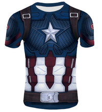 Load image into Gallery viewer, Avengers: Endgame Captain America Workout Compression Shirt - Long Sleeve