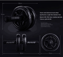 Load image into Gallery viewer, Abdominal Power Wheel Ab Roller