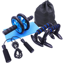 Load image into Gallery viewer, AB Roller Kit Strong Load-bearing with Push-Up Bar Jump Rope Knee Pad Home Gym Abdominal Core Muscle Exercise Fitness Equipment