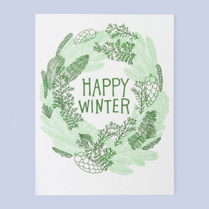 Winter Wreath Card