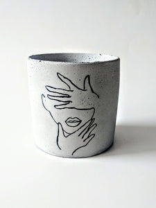 Suzette Concrete Planter