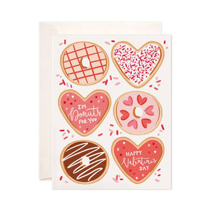 Valentine Donuts Greeting Card