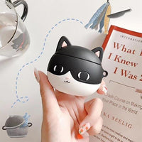 Cute Cartoon Cat Airpods 2 Case Silicone Pet Cat Lover Unique Airpods Cover