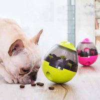 Cute French Bull Dog Pet Toy Feeder Interactive Treat Ball Pets Dogs Play