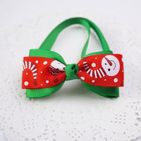 Christmas pet handmade bow tie for dogs and cats holiday