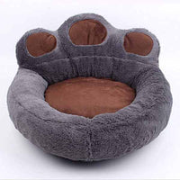 Gray Cute Creative Pet Dog Cat Paw Bed Bear Paw Pets Dogs Cats Basket