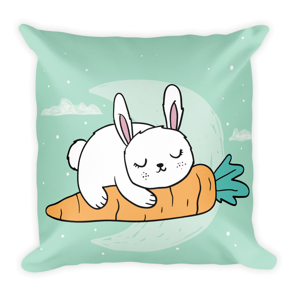 Cute sleeping rabbit design decorative pillow home decor pet lover gift