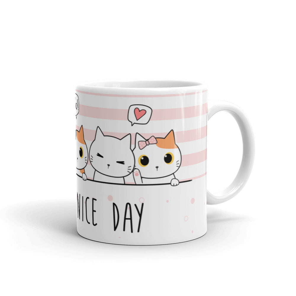 Unique designer cute cats nice day mug coffee tea perfect gift pet cats cat