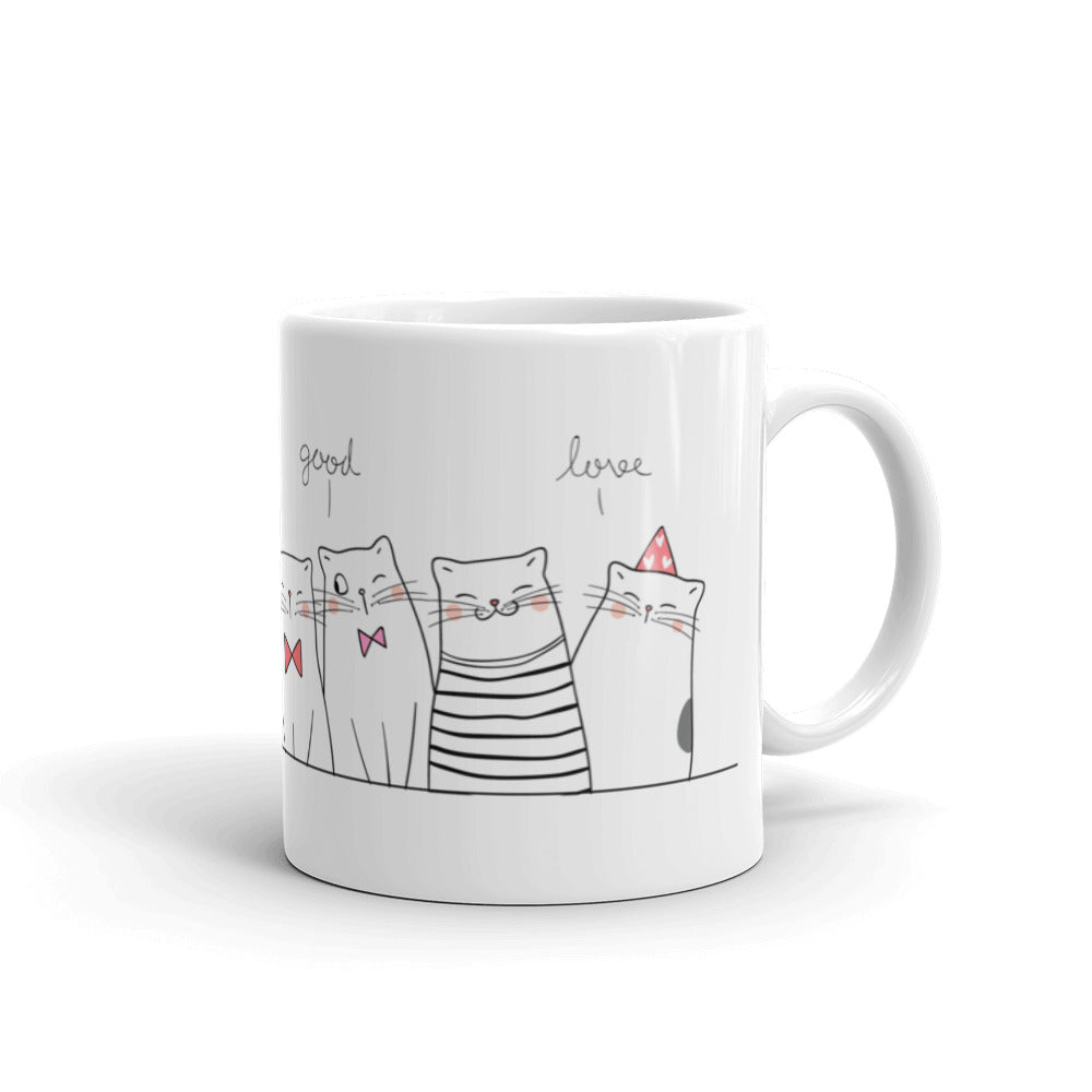 Cute pets cats drawing shop unique designer pet cat coffee mug hot drink