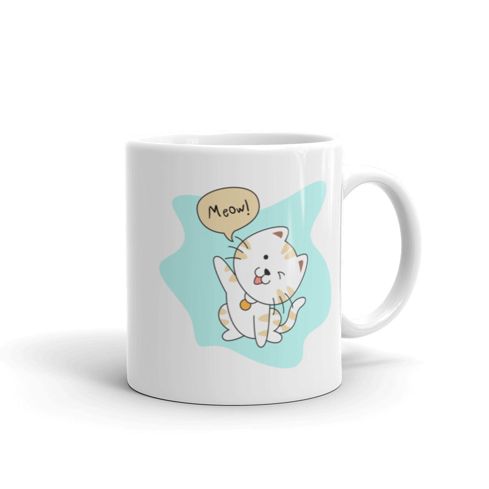 Unique designer pets art cute pet cat meow cup mug for coffee and tea gift
