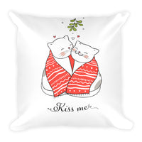 Cute Pet Cat Christmas Kiss Pillow Unique Gift Pet Lovers Cats Designer