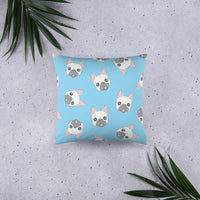 Cute unique pug pet dog decorative pillow design blue home decor gift pet lover