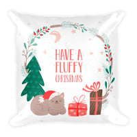 Unique Fluffy Christmas Pet Cat Lover Decorative Pillow Home Decor Designer Gift