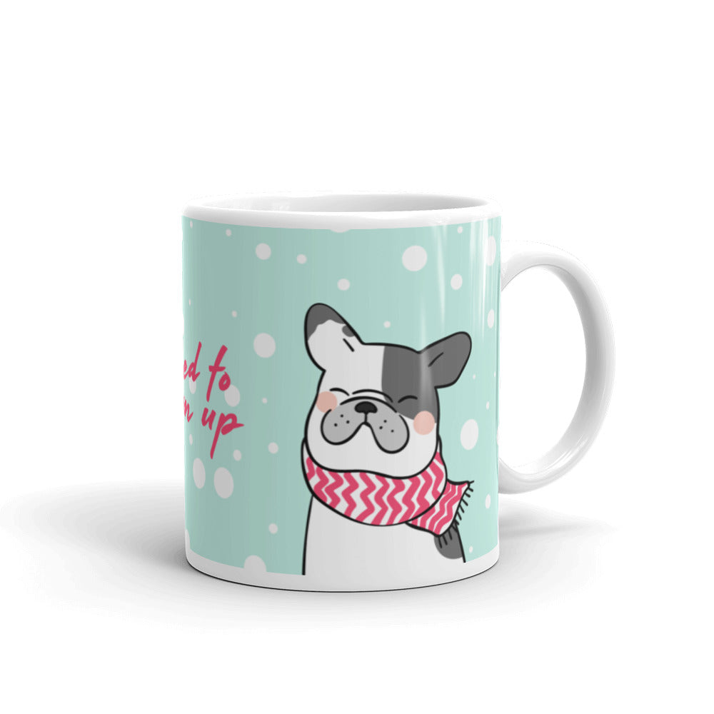 Cute designer green coffee tea hot drink mug cup warm up pet dog pets dogs