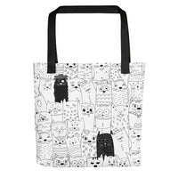 Artistic Designer Unique Pet-Inspired Women's Fashion Tote Bag Cat Dog Pets