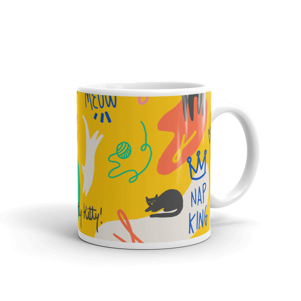 Unique designer style colorful coffee tea mug pet motives pets cats dogs gift