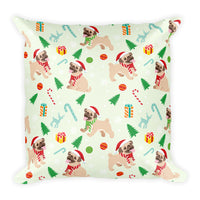 Unique Green Pet Dog Pug Christmas Festive Pillow Home Decor Decorative Pillow