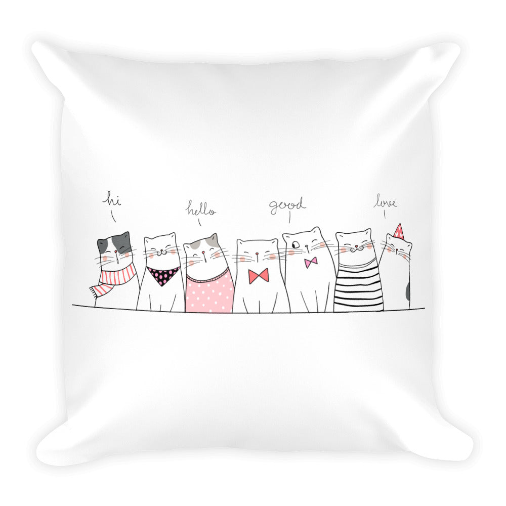 Cute pet cats drawing unique designer fashion decoration pillow home decor pets cat