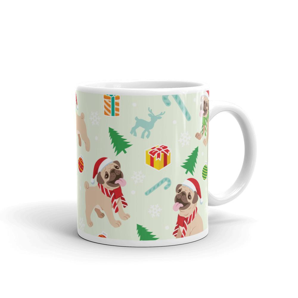 Cute Pet Pug Lover Christmas Mug Coffee Tea Mug Dog Pets Pugs Gift
