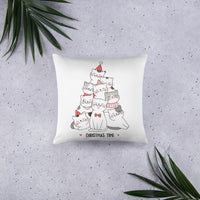Cute Designer Pet Cat Christmas Decorative Pillow Home Decor Pet Cats Lover Gift