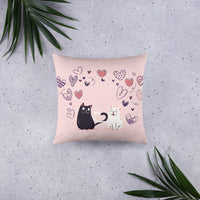 Cute unique pet cats decorative pillow for home decor cat motive stylish