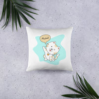 Cute interior design fashion designer home decor pillow cute pet cat meow gift