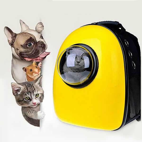 Cat dog puppy backpack window capsule bag for pets cats carrier dogs fashion pet travel