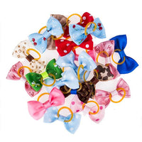 Fashion pet hair bow for dogs and cats in stylish print designs