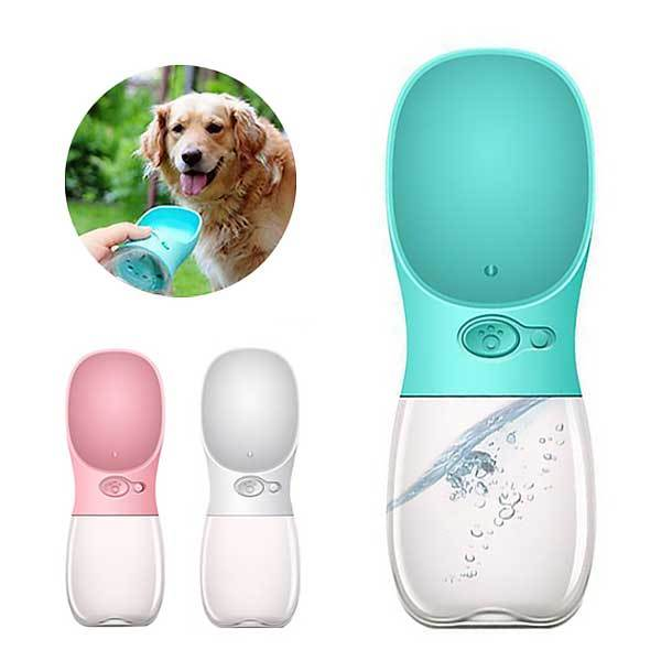 Cute Pet Dog Drinking Water Bottle Portable Travel Bowl Outdoor Pet Water Dispenser
