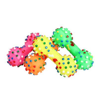 Famous dogs' squeaky chew bone toy in various colors