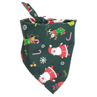 Green Christmas scarf bandana shop for pet dogs