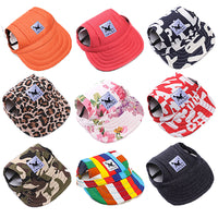 Fashionable Dog Baseball Caps shown in various colors and styles for latest dog fashion