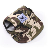 Camo military dogs' baseball cap for coolest pet outfits